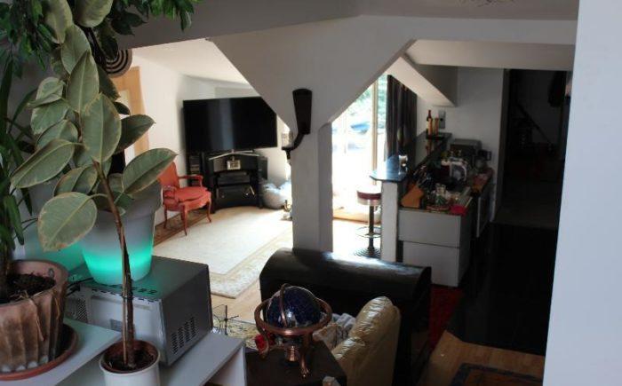 Blick von Empore aufs Wohnzimmer DG